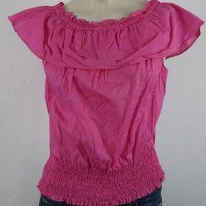 9131a67a14250 Sunny Leign Pleated Ruffle Sleeve Top ...